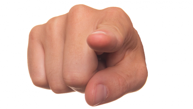 met de vinger wijzen, klagen